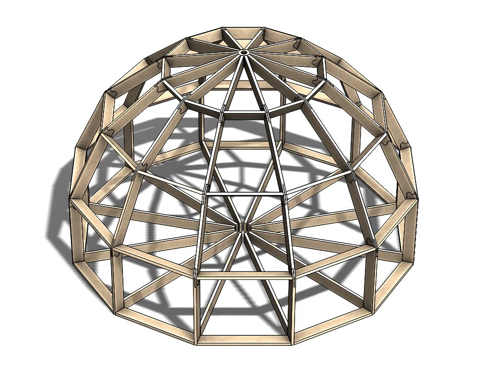 Общий вид Z серия Добросфера. Безконнекторнй купольный дом